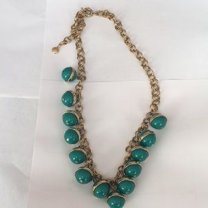 J. Crew green bauble necklace